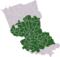 Carte: localisation du Houtland dans l'arrondissement de Dunkerque
