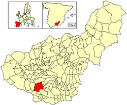 Location of Albuñuelas