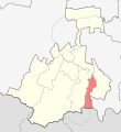 Location of Vladikavkaz (North Ossetia-Alania).svg