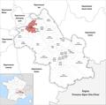 Locator map of Kanton La Verpillière 2019.png