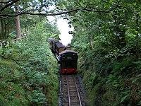 """Loco No. 7 """"Tom Rolt"""" leaving for Tywyn. - geograph.org.uk - 496056.jpg"""