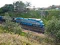 Locomotiva de comboio parado sentido Guaianã no pátio da Estação Ferroviária de Itu - Variante Boa Vista-Guaianã km 201 - panoramio (1).jpg