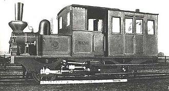 Halmstad Bolmen Railway - Locomotive No 4 of Halmstad–Bolmens Järnväg before delivery