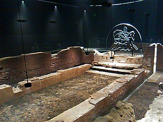 London Mithraeum - The Mithraeum in 2017, in the Bloomberg Space
