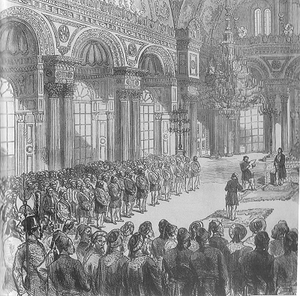 Ottomanism - Opening of the first Ottoman Parliament after the proclamation of the Ottoman Constitution of 1876
