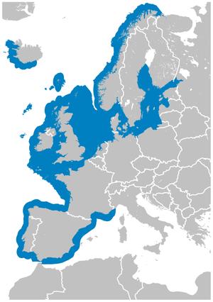 Longspined bullhead - Image: Longspined Bullhead Taurulus bubalis distribution map