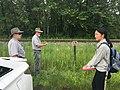 Looking at plants at Station Road (95c698bc-261d-4b8a-9ed2-588f8eef68dd).JPG