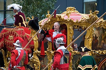 Pikemen escorting John Stuttard, Lord Mayor of London during the 2006 Lord Mayor's Show.