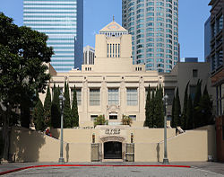the los angeles central library in downtown