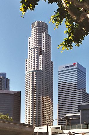 U.S. Bank Tower (Los Angeles) - Image: Los Angeles Library Tower (small) crop