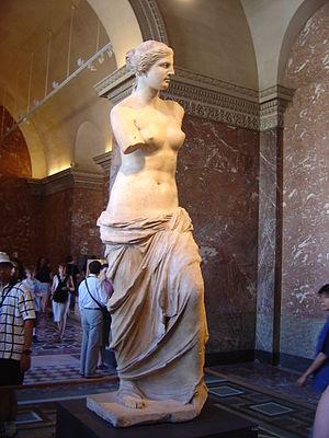 Fig.3: Venus de Milo. Sculpture executed in Parian marble. c.100 B.C. Musee du Louvre, Paris