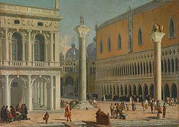 Luca Carlevarijs Piazzetta San Marco
