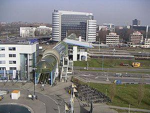 Zoetermeer railway station - Image: Luchtsmal