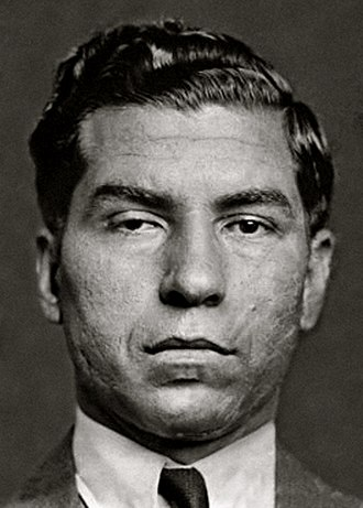 Personal life of Frank Sinatra - Mugshot of mobster Lucky Luciano in 1936