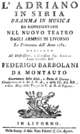 Luigi Cherubini - Adriano in Siria - titlepage of the libretto - Livorno 1782.png