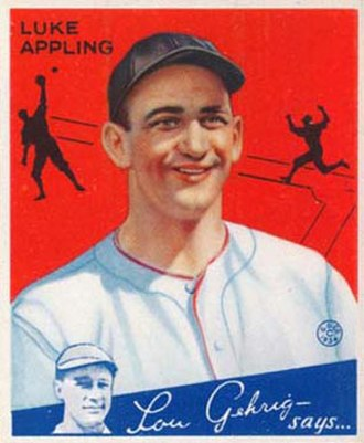 Luke Appling - Image: Luke Appling Goudeycard