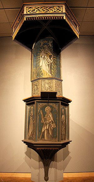 Pulpit of St. Andreas Church, Eisleben, where Agricola and Luther preached