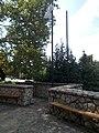 Lutheran church, benches, flagpoles, 2018 Balatonboglár.jpg