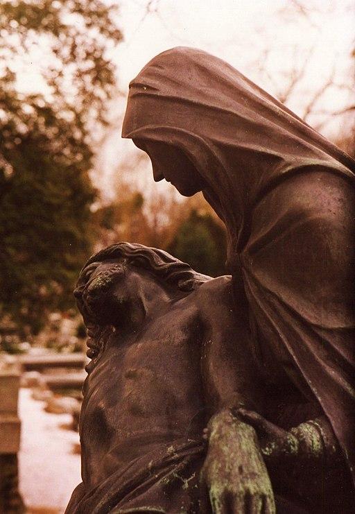 Luty 1993 Gorczyn cemetery in Poznan
