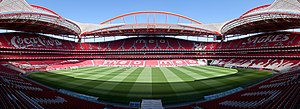 A panorama of the Estádio do Sport Lisboa e Be...
