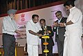 M. Veerappa Moily lighting the lamp to inaugurate the R&D Conclave, 2012 on Power Sector, in New Delhi. The Minister of State for Power, Shri K.C. Venugopal and the Secretary, Ministry of Power.jpg