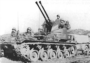 Second Battle of Naktong Bulge - An M19 Gun Motor Carriage in Korea, 1950.