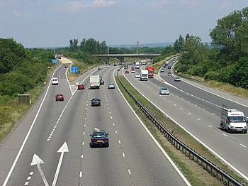 English: M23 Junction 9 - Gatwick Airport Spur...