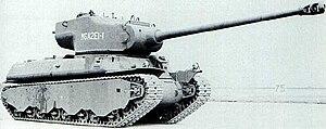 105 mm gun T5E1 - The T5E1 was mounted on the M6A2E1 heavy tank for testing purposes