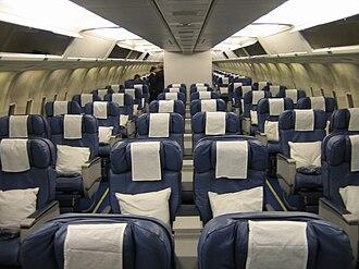 MAXjet Airways - MAXjet cabin interior.