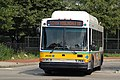 MBTA route 50 bus leaving Forest Hills station, July 2006.jpg