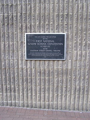 Chatham Garden Theatre - A historical plaque outside the prison