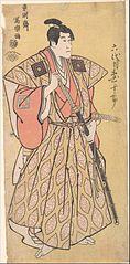 Ichikawa Danjuro VI as Funa Bansaku,son of Fuwa Banzayemon
