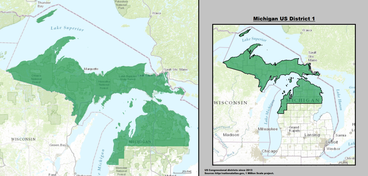 Michigans St Congressional District Wikipedia - Us senate district map
