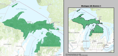 Michigan's 1st congressional district - since January 3, 2013.