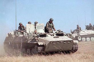 Opposing force - US Marines using a former Soviet MT-LB vehicle for the OPFOR role during an exercise