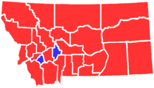 United States presidential election in Montana, 1904 - Image: MT1904president