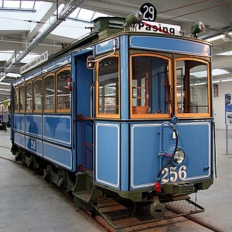 Trams in Munich - A type A2.2 tram from 1901 in the MVG museum