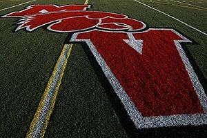 Murrieta Valley High School - Image: MVHS Logo on field