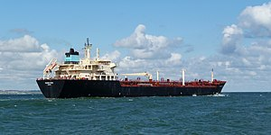 English: Oil products tanker Maersk Riesa (IMO...