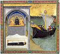 Maestro dell'osservanza, sepoltura di santa monica e partenza di sant'agostino.jpg