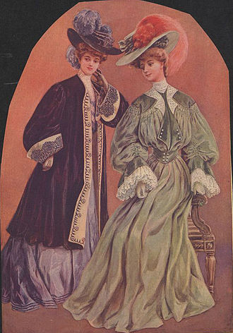 Adeline Knapp - Ladies' plume hats, c. 1904