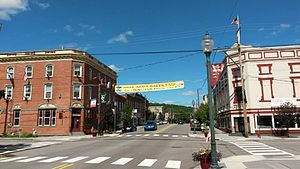 Hawley, Pennsylvania - Photo of Main Avenue, Hawley, PA - by Karen Rice