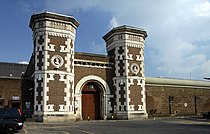 Main gate to the HM Prison Wormwood Scrubs in spring 2013 (2).JPG