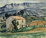 Maison devant la Sainte-Victoire près de Gardanne, par Paul Cézanne, Indianapolis Museum of Art.jpg
