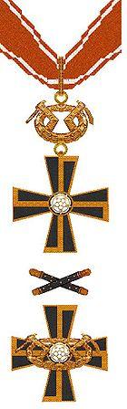 Mannerheimkruis der Eerste en Tweede Klasse