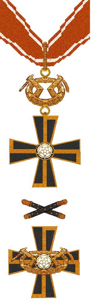 Mannerheim Cross - Mannerheim Cross 1st Class (above) and 2nd Class (below)