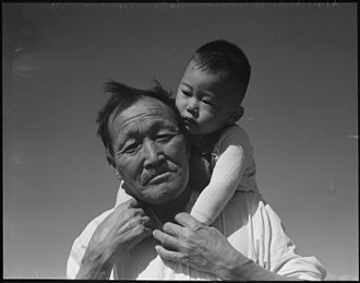 Dorothea Lange - Grandfather and grandson at Manzanar Relocation Center