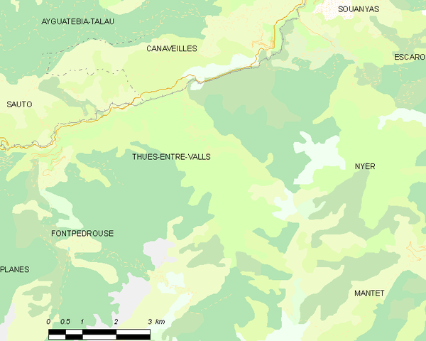 Map of Thues-Entre-Valls and its surrounding communes Map commune FR insee code 66209.png