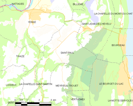 Mapa obce Saint-Paul