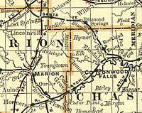 Map elk chase kansas